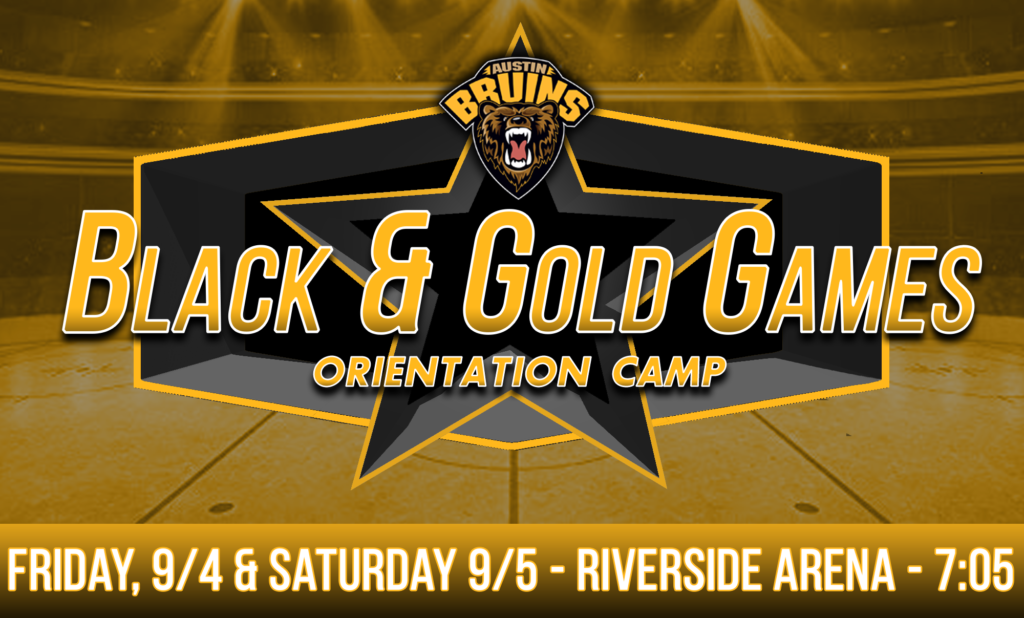Austin Bruins Announce Black and Gold Games at Riverside Arena on September 4th and 5th